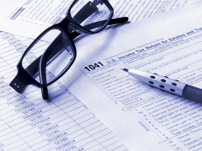 Tax Form 1041 Stock Photo Image Of Paper Form Finance 10205186