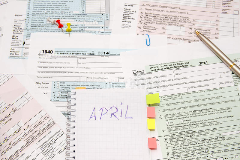 1040 tax form. As background stock photo