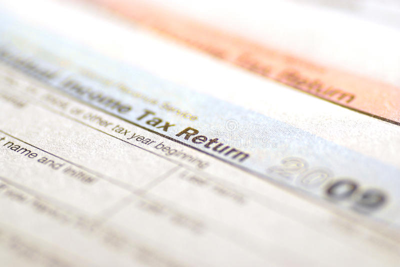 Download Tax Forms 2009 stock image. Image of debit, internal - 13752325