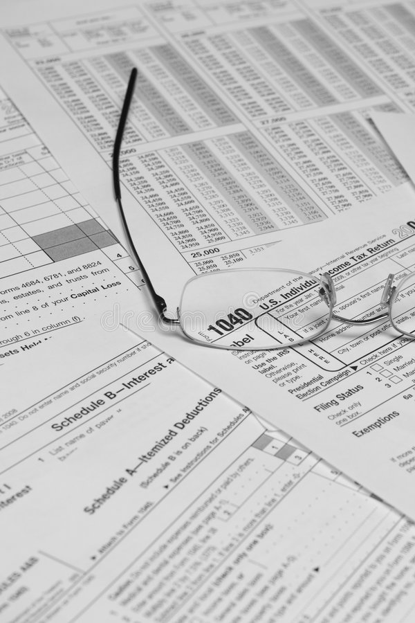 Tax Forms Stock Photos