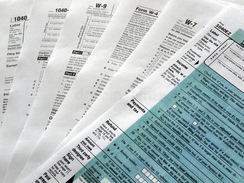 Download Tax Forms Stock Photos - Image: 9643193