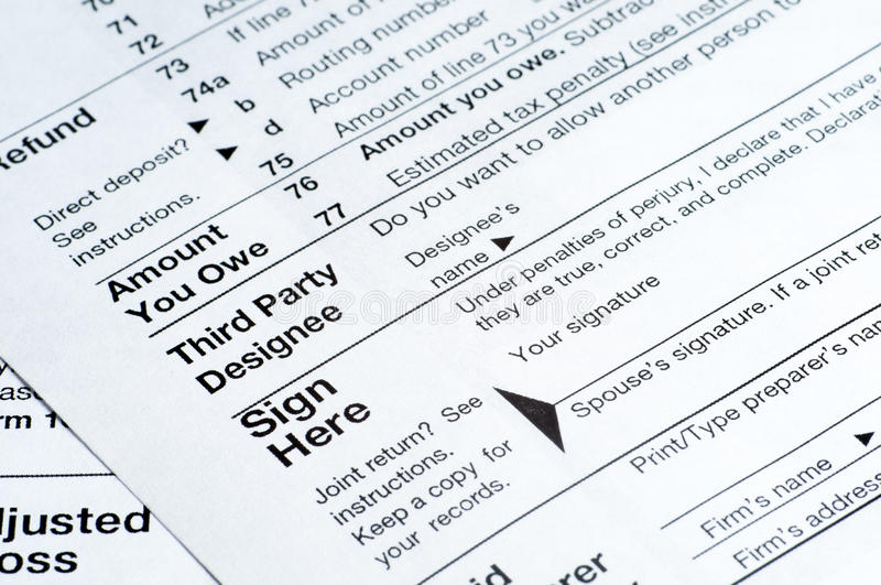 1040 tax Forms royalty free stock image