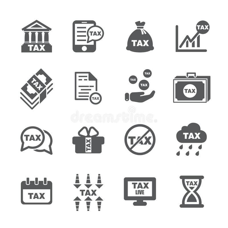 Tax icon set stock photo