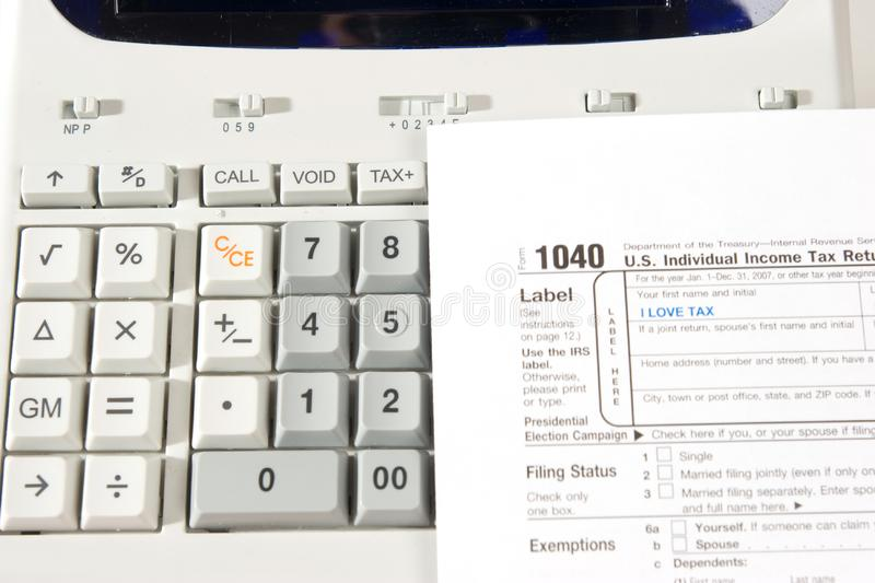 Tax lover stock image