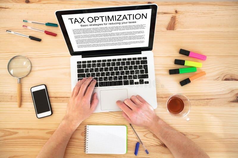 Tax optimization royalty free stock photos