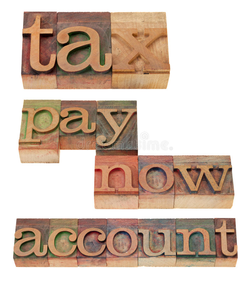 Download Tax, Pay Now, Account - Words Stock Photography - Image: 23214172