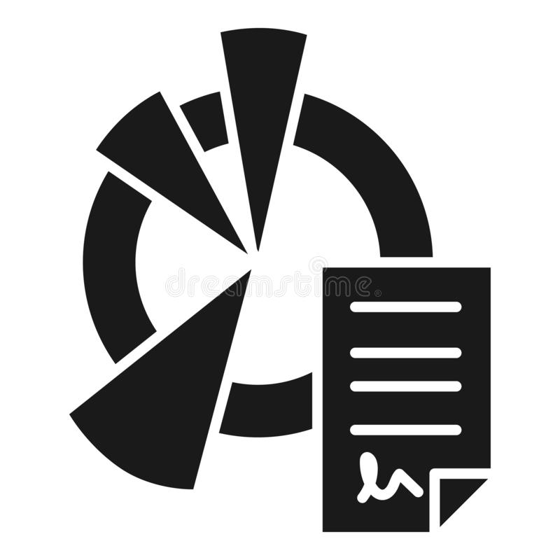 Tax pie chart icon, simple style vector illustration