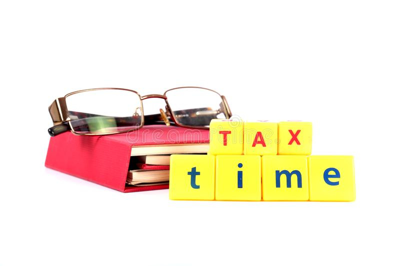 Tax planning. Concept shot of tax planning on white background royalty free stock photography