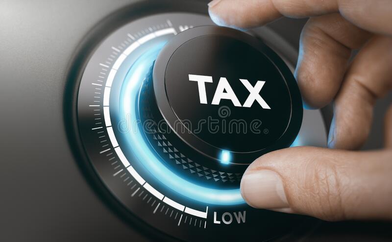 Tax reduction services. Lowering Taxable Income royalty free stock photography