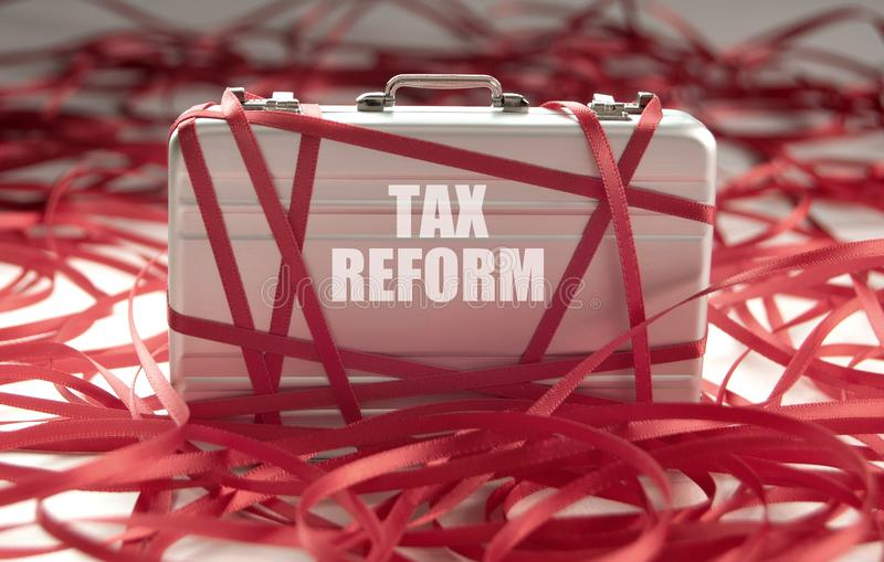 Tax reform red tape stock photography