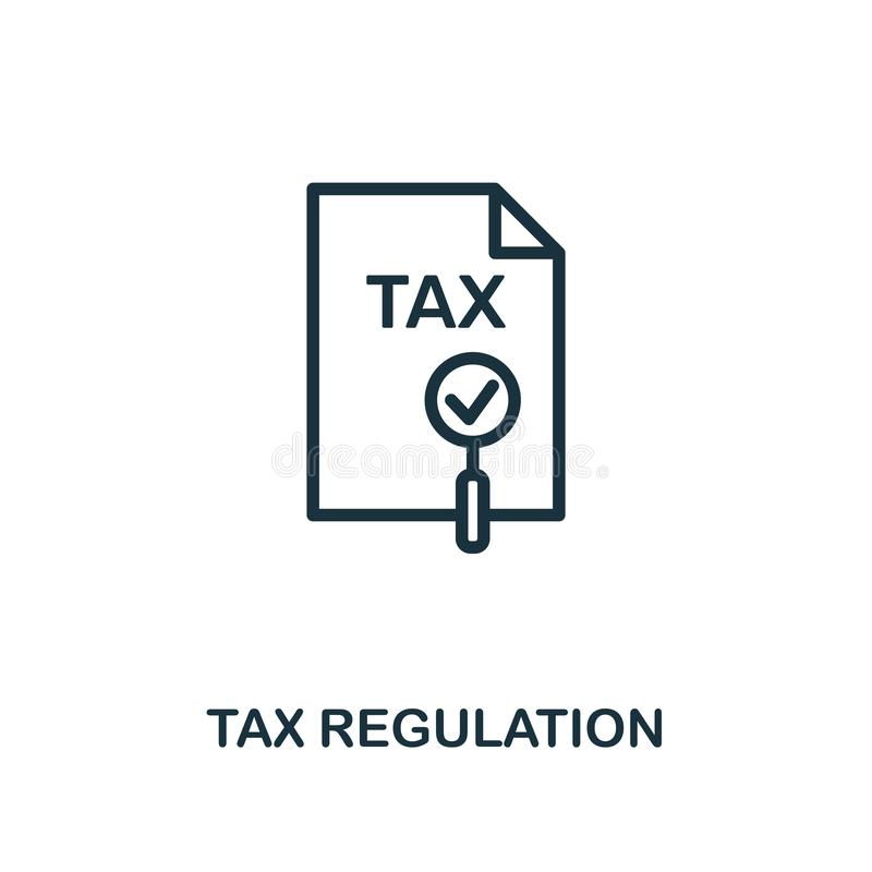 Tax Regulation icon. Creative element design from fintech technology icons collection. Pixel perfect Tax Regulation icon royalty free illustration
