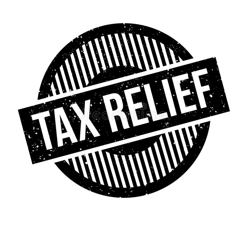 Tax Relief rubber stamp. Grunge design with dust scratches. Effects can be easily removed for a clean, crisp look. Color is easily changed vector illustration