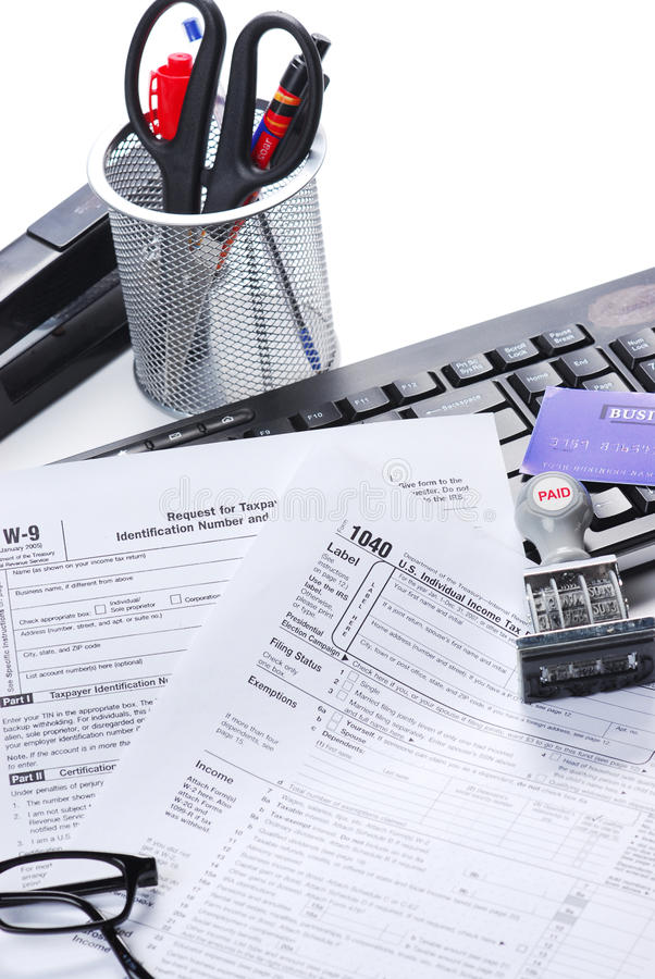 Download Tax return stock image. Image of file, calculator, computer - 13427571