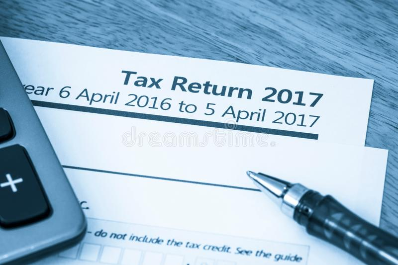 Tax return form 2017 stock image. Image of assessment - 86198079