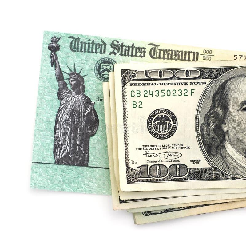United States Treasury Check Stock Image