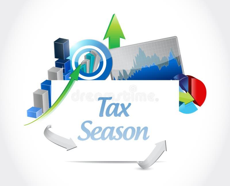tax season business chart sign concept vector illustration