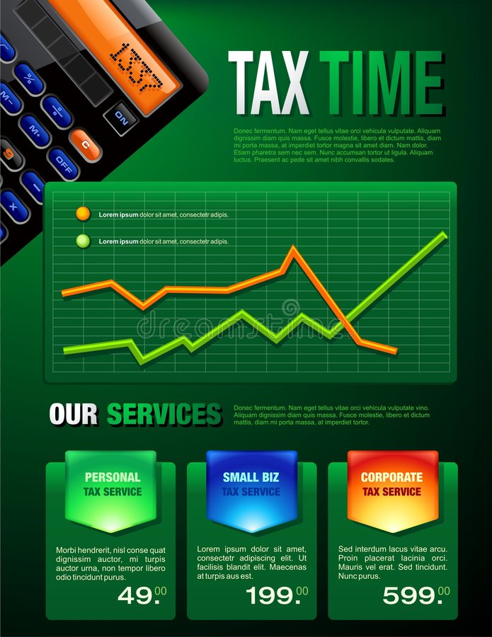 Download Tax Services Brochure stock vector. Image of forecasting - 7773915