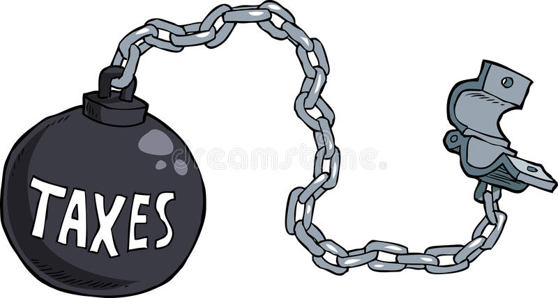 Tax shackles. On white background royalty free illustration