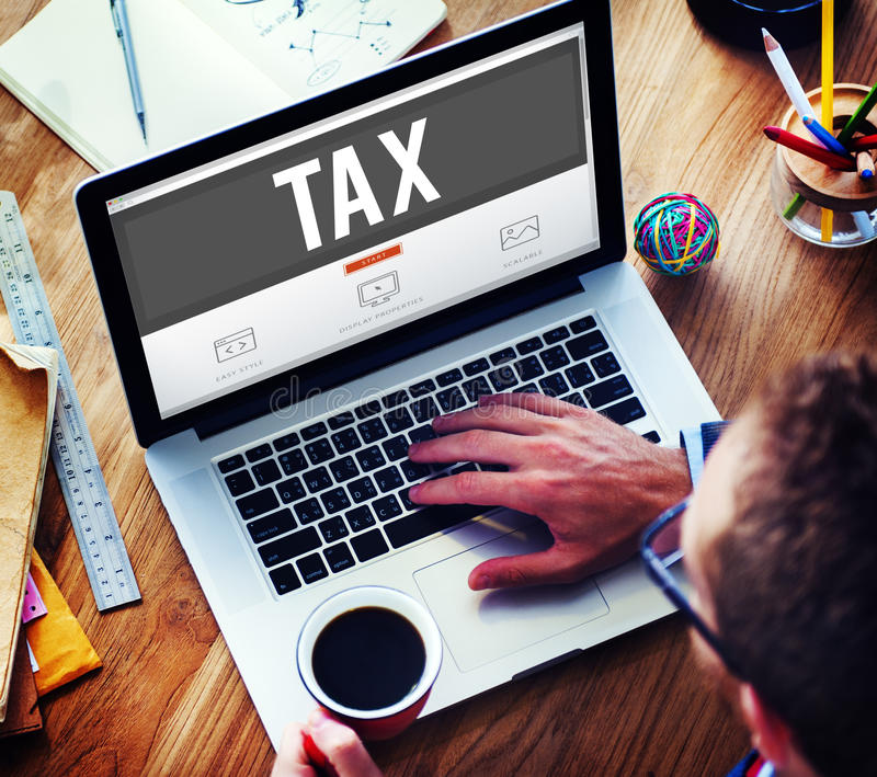 Tax Taxation Audit Refund Accounting Concept.  stock photography