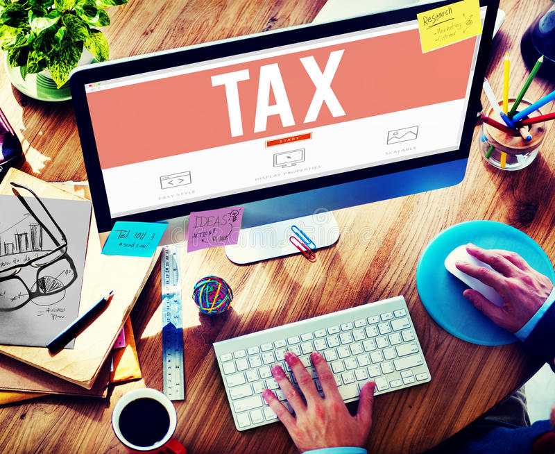 Tax Taxation Audit Refund Accounting Concept royalty free stock photos