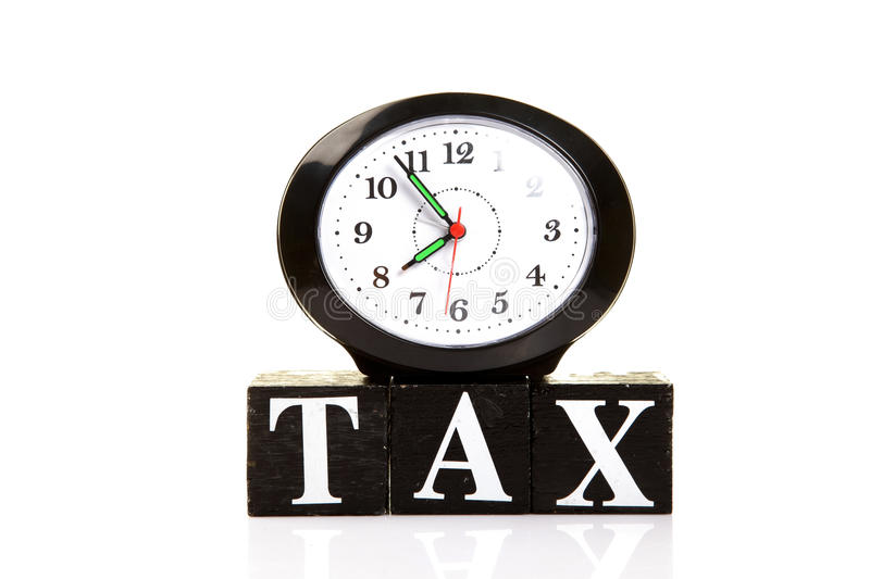 Download Tax time stock image. Image of still, blocks, time, hands - 18570789