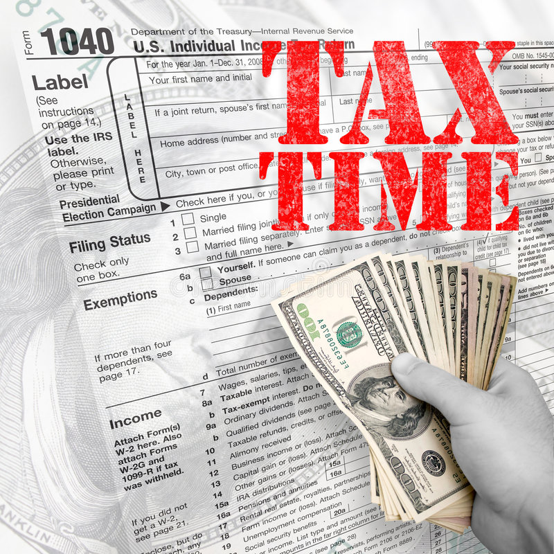 Tax Time royalty free stock photography