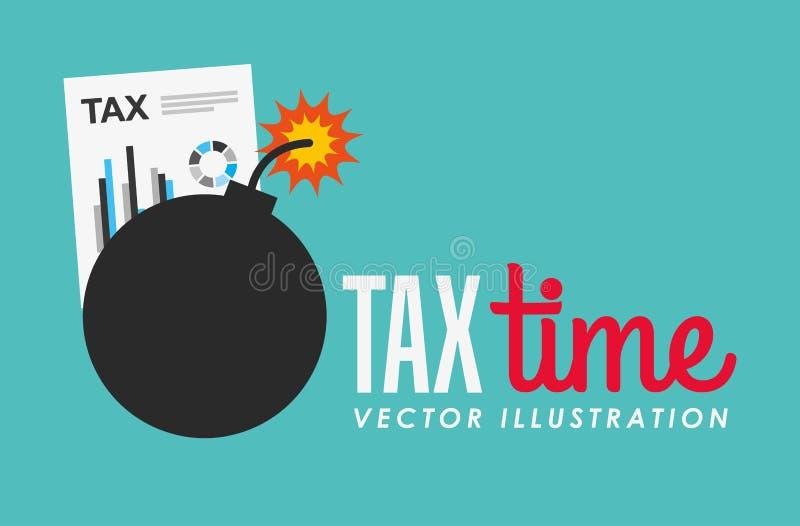 Tax time design. Illustration eps10 graphic royalty free illustration