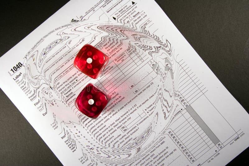 Tax Time Gamble Swirl stock photo