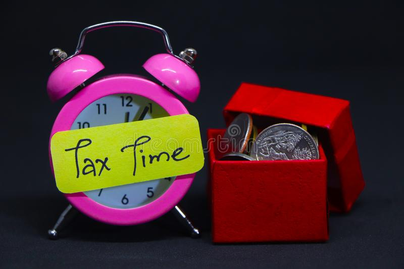 Tax Time. Tax Time Gives the Choice to File On-line or by Mail. Concept Image royalty free stock photo