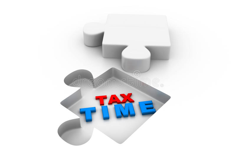 Tax time puzzle royalty free illustration