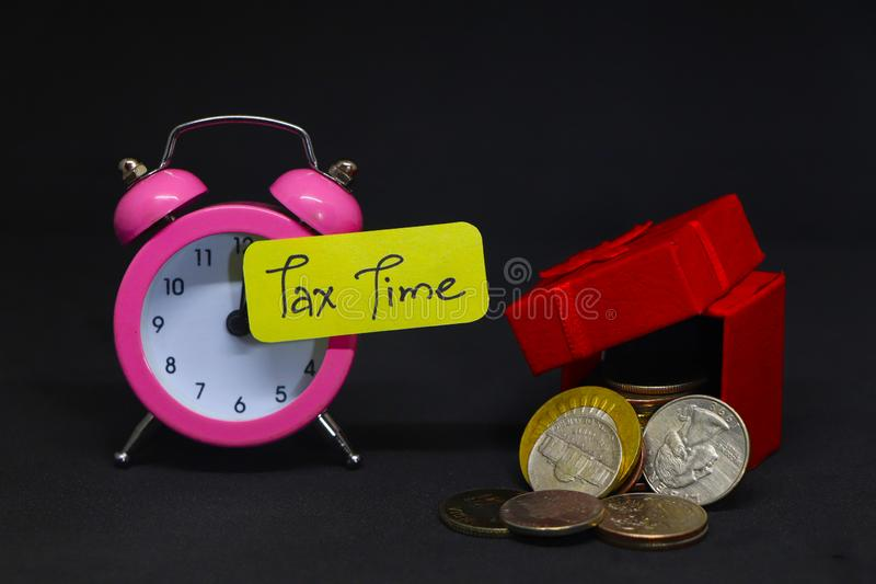 Tax Time. Tax Time Gives the Choice to File On-line or by Mail. Concept Image royalty free stock photos