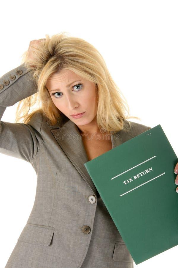 Tax Worry Stock Photo