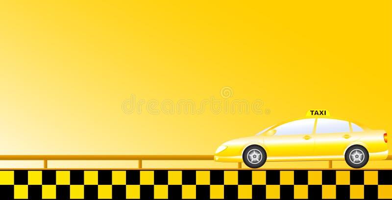 Taxa bakgrund med vägen vektor illustrationer