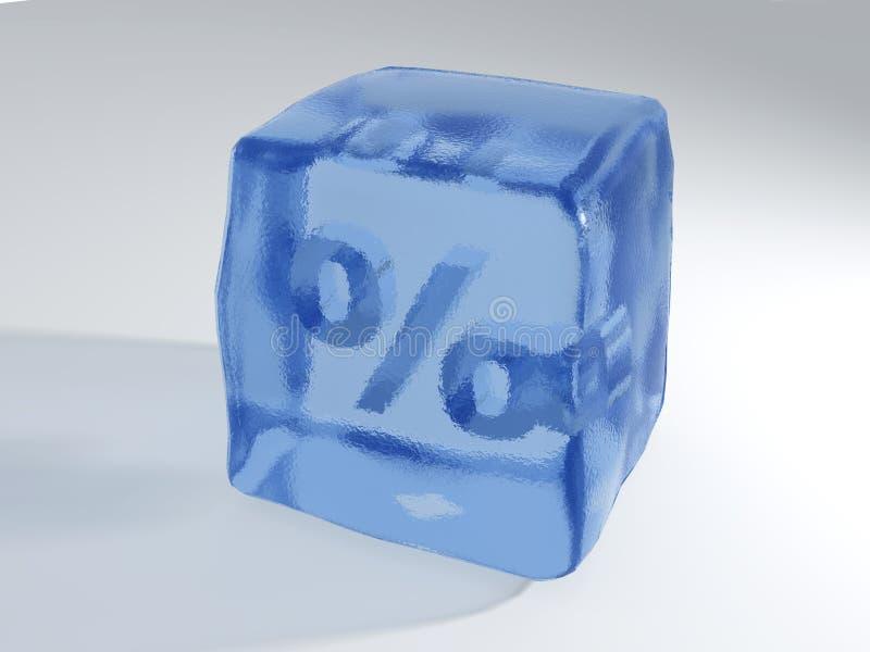 Taxa congelada ilustração stock