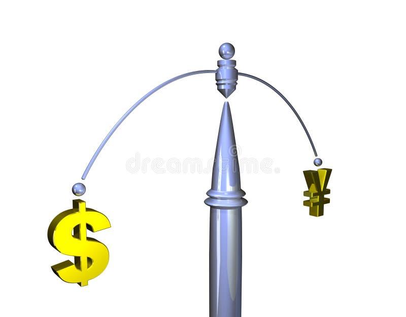 A taxa de câmbio ilustração stock