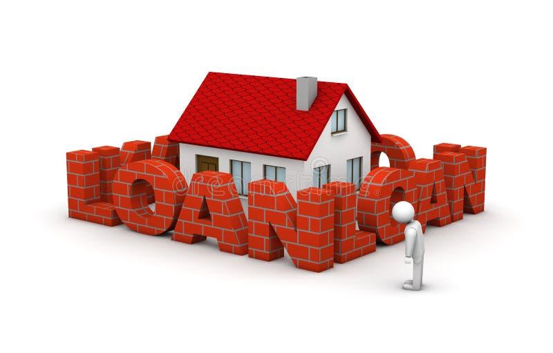 Taxa de hipoteca elevada ilustração royalty free
