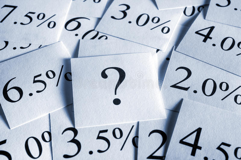 Taxa de interesse variável fotos de stock