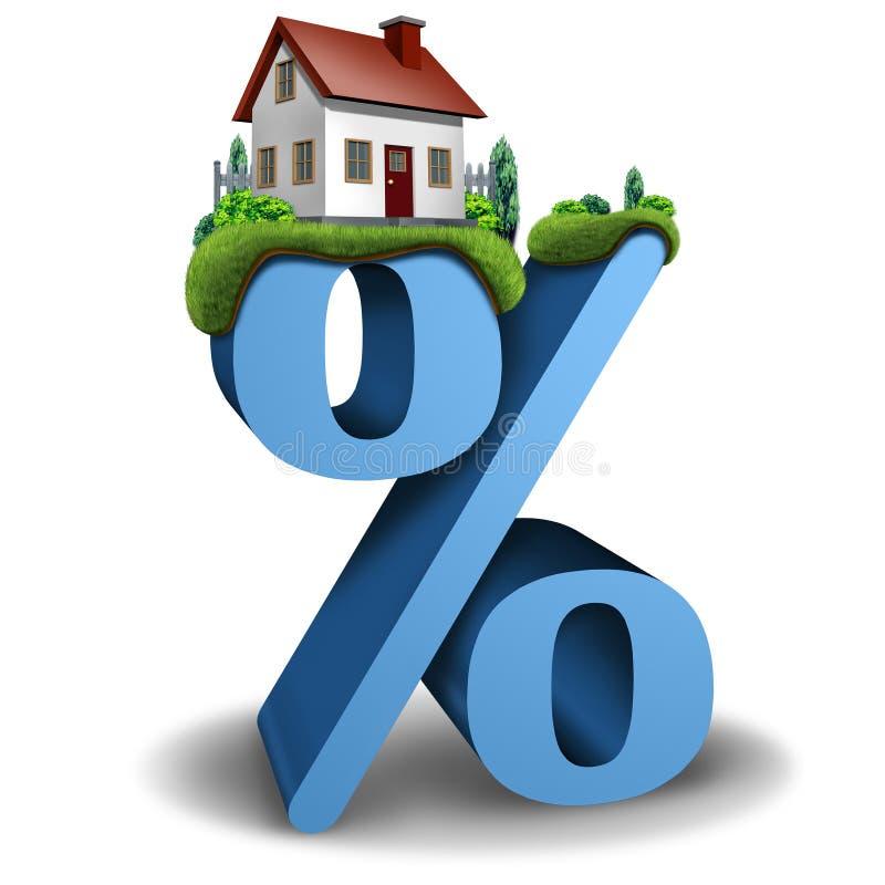 Taxa de juros hipotecários ilustração royalty free