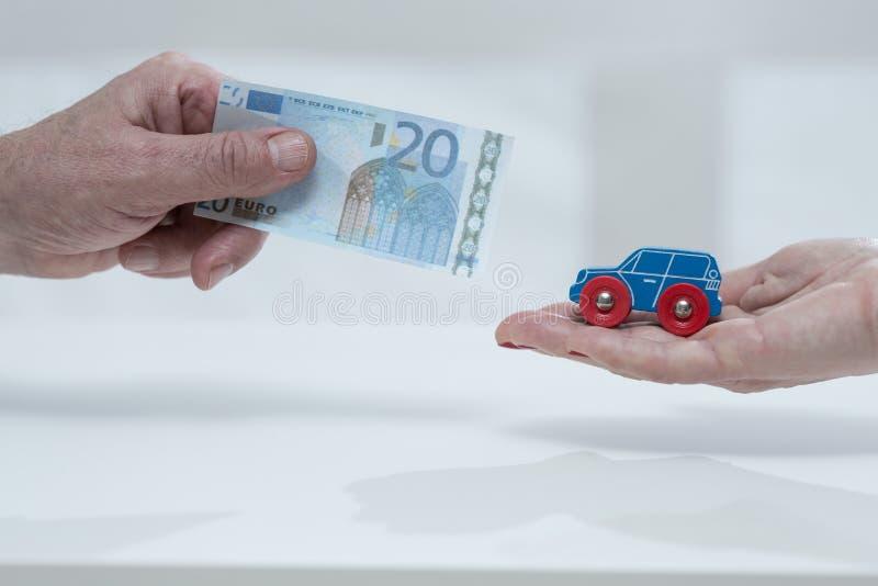 Taxa do carro fotografia de stock