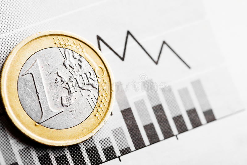 Taxa do euro (DOF raso) fotografia de stock