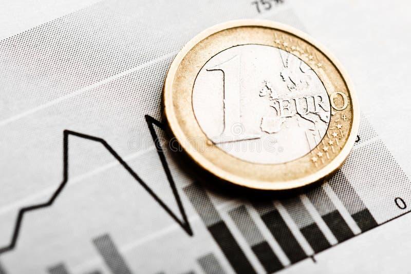 Taxa do euro (DOF raso) imagem de stock