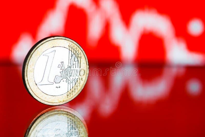 Taxa do euro- (DOF raso) imagens de stock