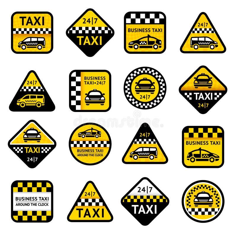 Taxa fastställda etiketter royaltyfri illustrationer
