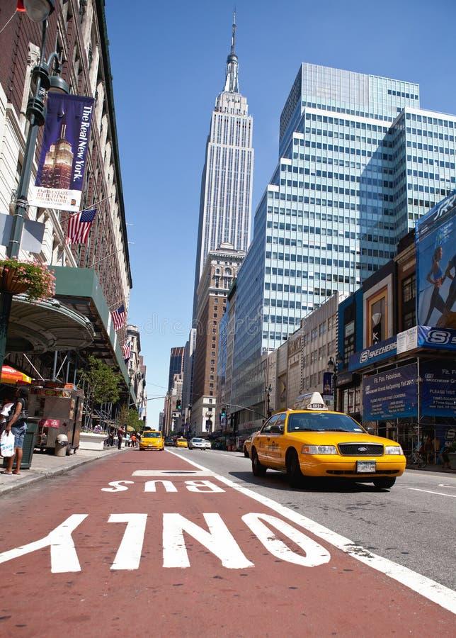 Taxa i Manhattan royaltyfria foton