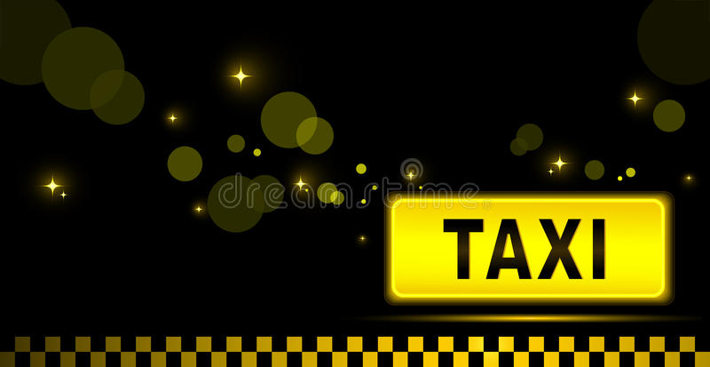 Taxa nattstadsbakgrund stock illustrationer