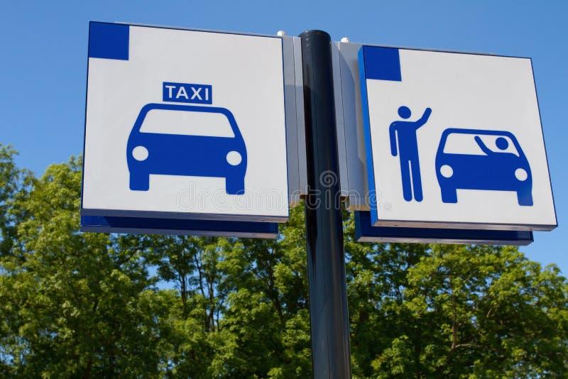 Taxa och tappa av tecknet royaltyfri foto