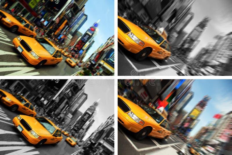 taxar den nya fyrkanten för blurstadsrörelse tider york royaltyfria bilder