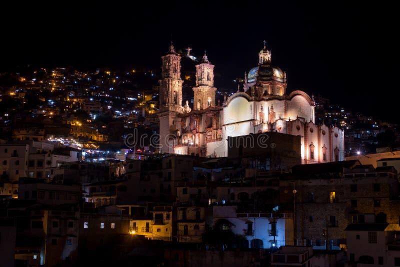 Taxco圣诞老人Prisca教会 免版税库存图片