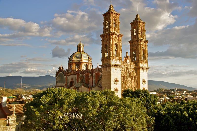Taxco大教堂,墨西哥 库存图片