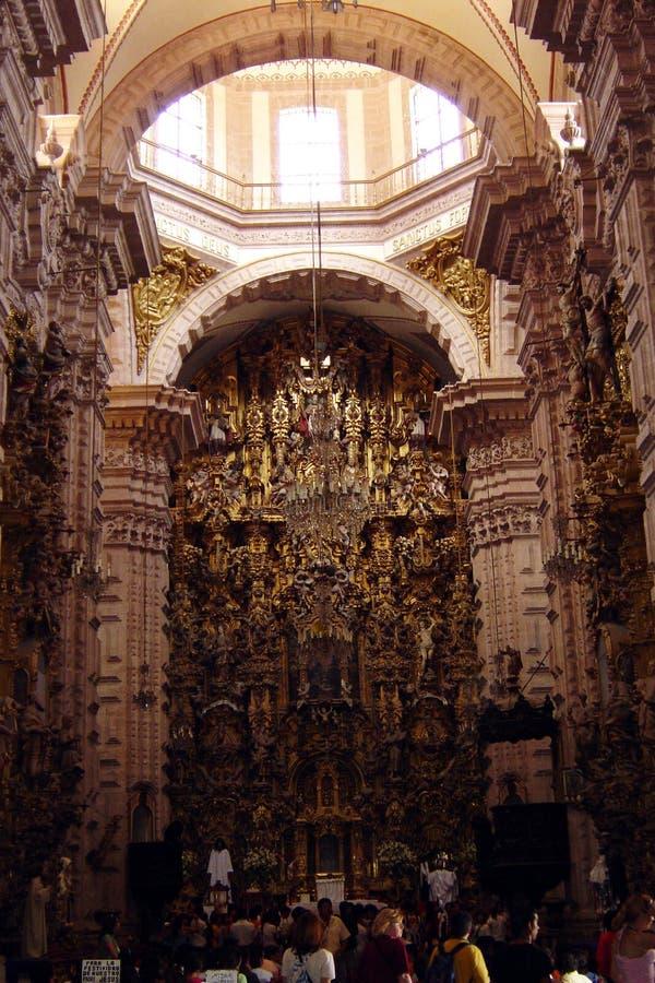 Taxco大教堂 免版税库存图片